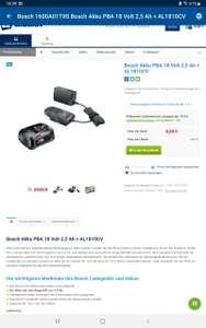 Bosch 18V Akku mit Ladegerät