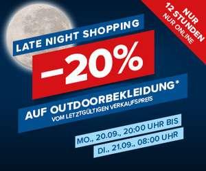Hervis: 20% Rabatt auf Outdoorbekleidung vom letztgültigen Verkaufspreis, nur bis morgen 08:00