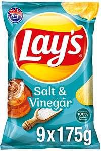 9x 175g Lay's Chips, Salt & Vinegar, Kräuterbutter, Sour Cream od. KFC