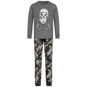 FORTNITE Skull Trooper Kinder Pyjama 2-teilig (Größe 140-176)