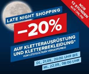 Hervis: 20% auf Kletterausrüstung und Kletterbekleidung vom letztgültigen Verkaufspreis bis morgen 08:00