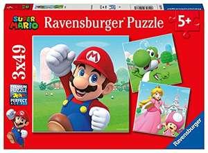 """Ravensburger Puzzle """"Super Mario"""" 3x49 Teile + Mini-Poster"""