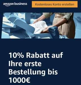 Amazon Business: 10 % Rabatt auf die erste Bestellung bis € 1.000,—…