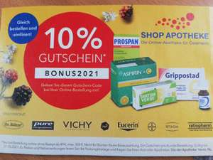 Shop Apotheke: 10% Rabat ab 49€ Bestellwert