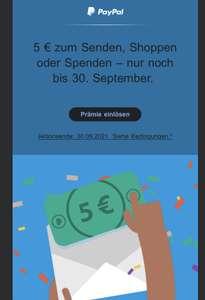5€ Paypal Guthaben für ausgewählte (lange inaktive) Accounts