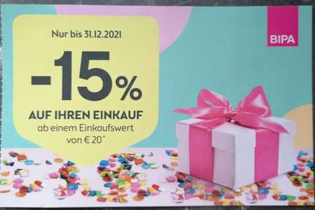 [Bipa] - 15% ab € 20 MBW