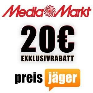 MediaMarkt: 30€ Sofort-Rabatt ab 232€ (20€ Preisjäger Exklusiv + 10€ Newsletter)