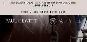 [Paul Hewitt] 15% Rabatt auf Schmuck