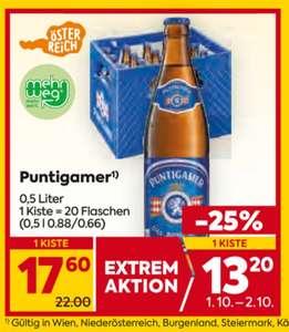 -25% auf alle Biere von Puntigamer & Zipfer am 1. und 2.Oktober bei BILLA-PLUS