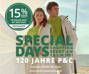Peek & Cloppenburg: 15% Rabatt auf alles inklusive Sale für Insider