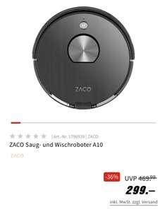 ZACO Topmodell A10 - 2in Saug-, und Wischroboter mit Laser, vibrierender Wischplatte und 3 Jahren Garantie!