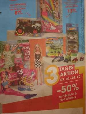 -50% auf Barbie und Hot Wheels 07.10.-09.10. beim Libro
