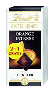 3x 100g Lindt Excellence Orange Intense