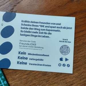 10€ Gutschein ab 12€ MBW bei JOKR