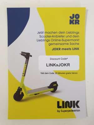 20 min gratis LINK E-Scooter fahren