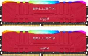 Crucial Ballistix RGB rot DIMM Kit 32GB, DDR4-3600, CL16-18-18-38