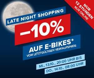Hervis: 10% Rabatt auf E-Bikes
