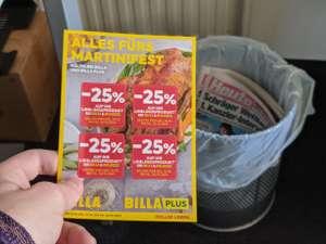 -25% BILLA (PLUS) Pickerl + Bonus Heute Zeitung für die Rundablage