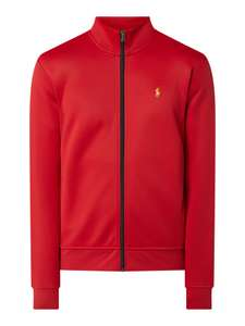 Polo Ralph Lauren Sweatjacke mit Stehkragen - Rot (Größe S-XL)
