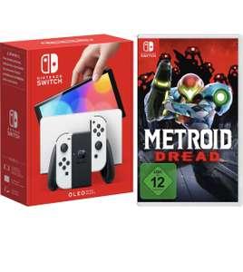 Nintendo Switch OLED Weiß + Metroid Dread