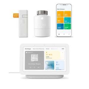 tado° Smartes Heizkörper-Thermostat Starter Kit V3+ und Google Nest Hub (2. Gen)