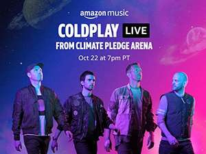 """""""Coldplay Live from Climate Pledge Arena"""" gratis Stream über Amazon Music auf Twitch oder Prime Video (am 23.10.)"""