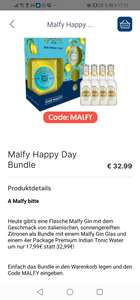 Malfy Gin + 4 Tonic Water + Glas