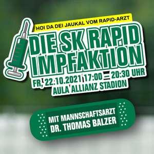 "SK Rapid Impfaktion: ""Hoi da dei Jaukal vom Rapid-Arzt"""