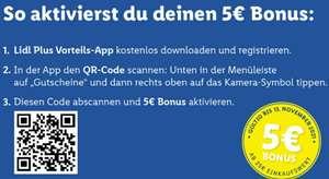 Lidl 5€ Gutschein (25€ Einkaufswert)