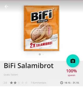 Scondoo: 2x 100% Cashback auf Bifi Salamibrot