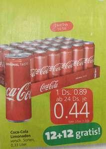 Coca Cola 0,33l (div. Sorten) 12+12gratis bei Spar, Eurospar und Interspar ab 21.10.
