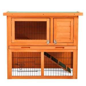 2-Stöckiges Garten Kleintierhaus aus Holz / Stall / Käfig um 82€