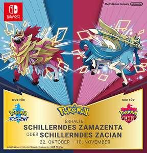Schillerndes Zamazenta oder Schillerndes Zacian für Pokémon Schwert/Pokémon Schild (Lokal & Online)