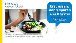 [IKEA Family] 10€ Gutschein für 15€ Konsumation im Restaurant