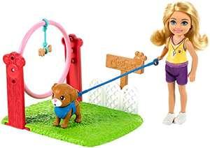 Barbie - blonde Chelsea-Puppe und Hundetrainerin-Spielset