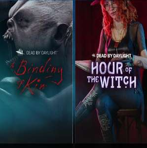 """""""Dead by Daylight - A Binding of Kin Chapter DLC"""" und """"Hour of the Witch Chapter DLC"""" Steamkeys über Alienware Arena"""