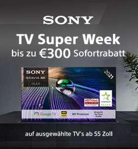 """Media Markt: Bis zu 300€ Sofortrabatt auf viele Sony TV Geräte ab 55"""""""