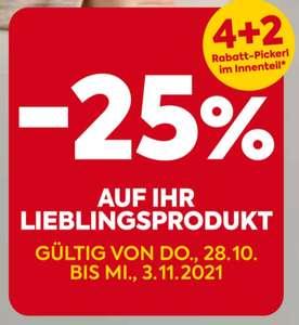 Billa (Plus): 6x 25% Rabattsticker