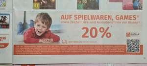 Müller: 20% Rabatt auf Spielwaren, Games und Disney Zeichentrick/Animation-Filme