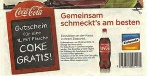 Gratis Coca Cola (1 Liter) bei Zielpunkt bis 28.04.2012 (statt 1,25€)!