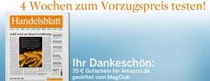 Handelsblatt 4 Wochen mit effektiv 0,10 € Gewinn lesen *Update*