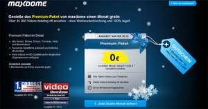Maxdome: Premium-Paket 1 Monat gratis ausprobieren + Gutschein für einen Film
