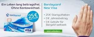 Barclaycard New Visa - Dauerhaft beitragsfreie Kreditkarte mit 25 € Startguthaben