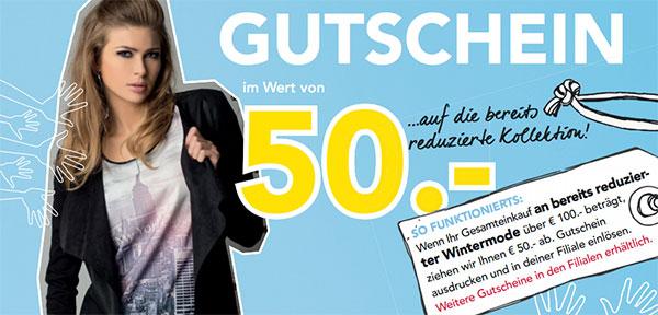 Top! 50 € Rabatt auf bereits reduzierte Winterkollektion ab 100 € Einkauf bei Fussl