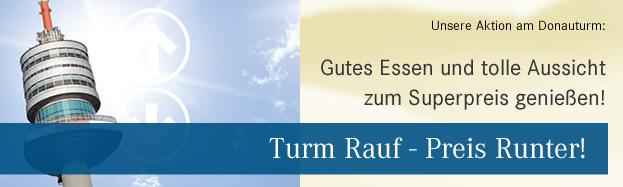 Donauturm: 2 Gang-Menü inkl Getränk + Liftfahrt um 18,50 € - 41% sparen