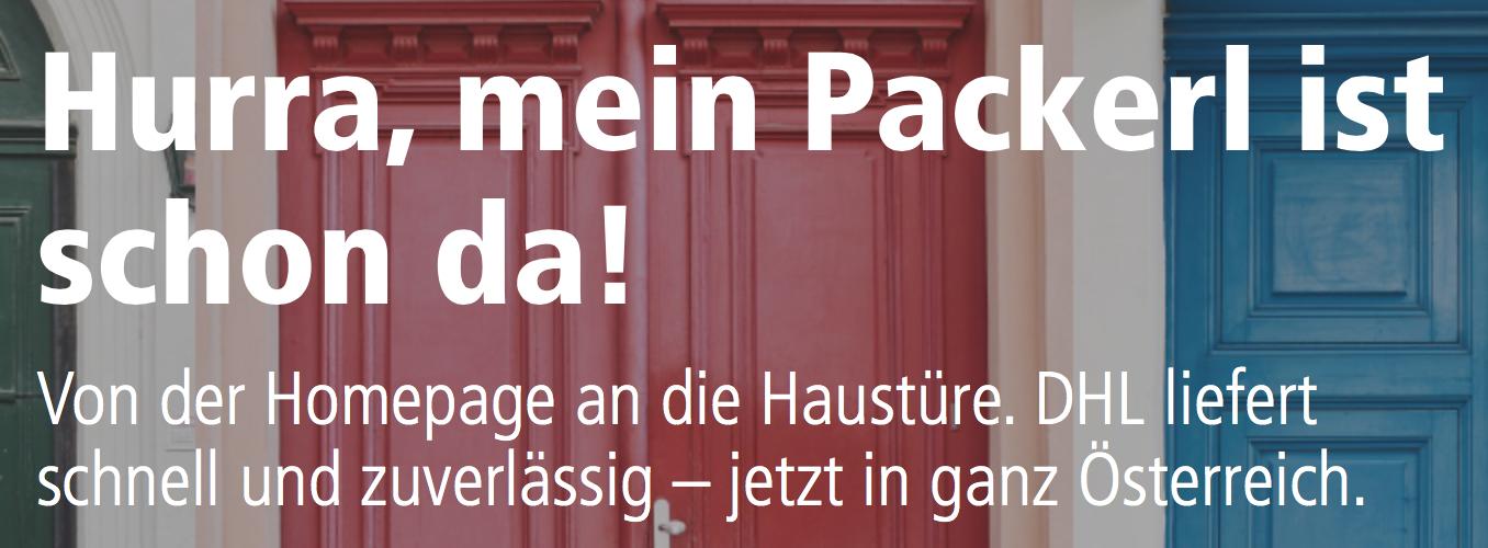 DHL startet Paketdienst für Österreich + Samstagzustellung (auch bereits auf Amazon)