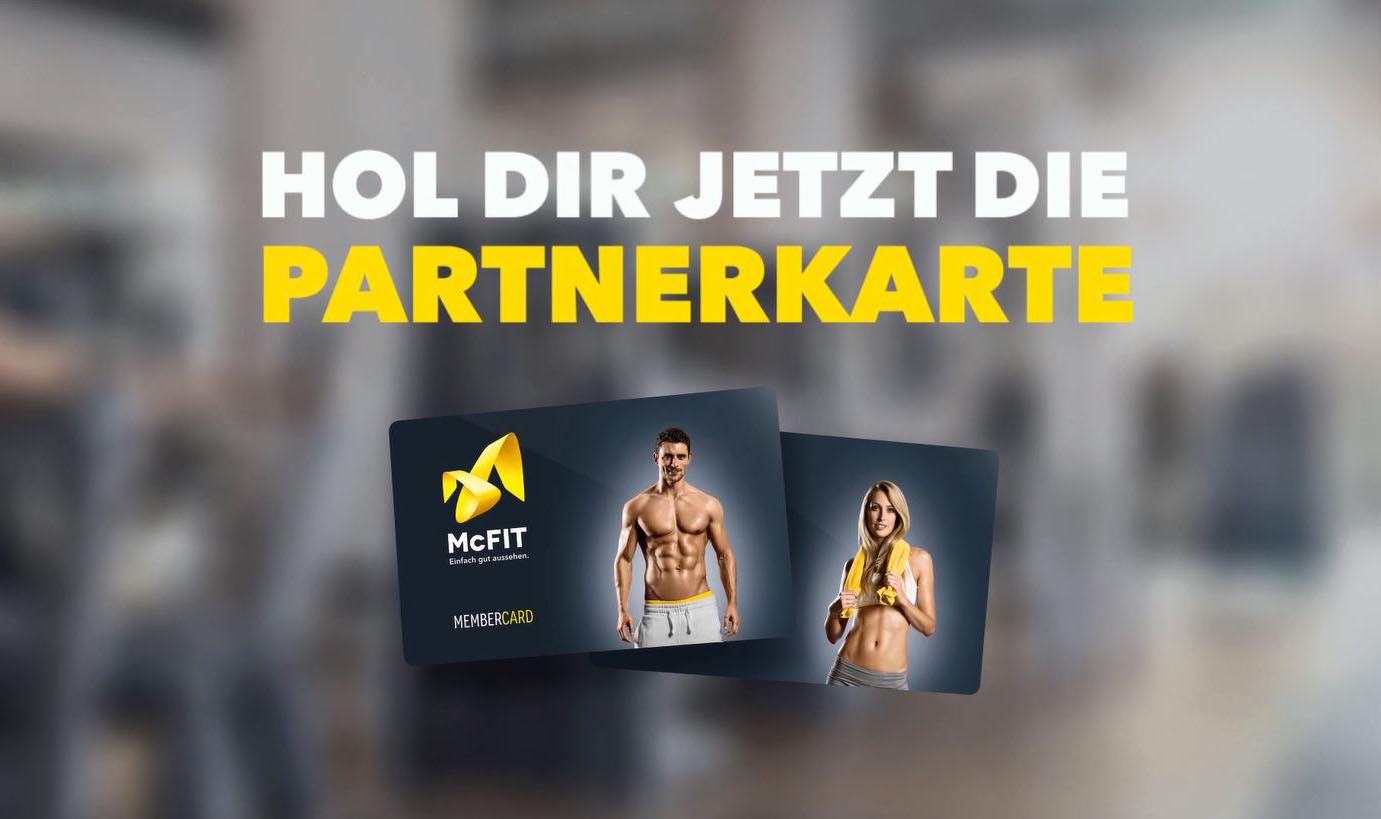 McFIT Partnerkarte. 50% sparen bei der Partner- Mitgliedschaft