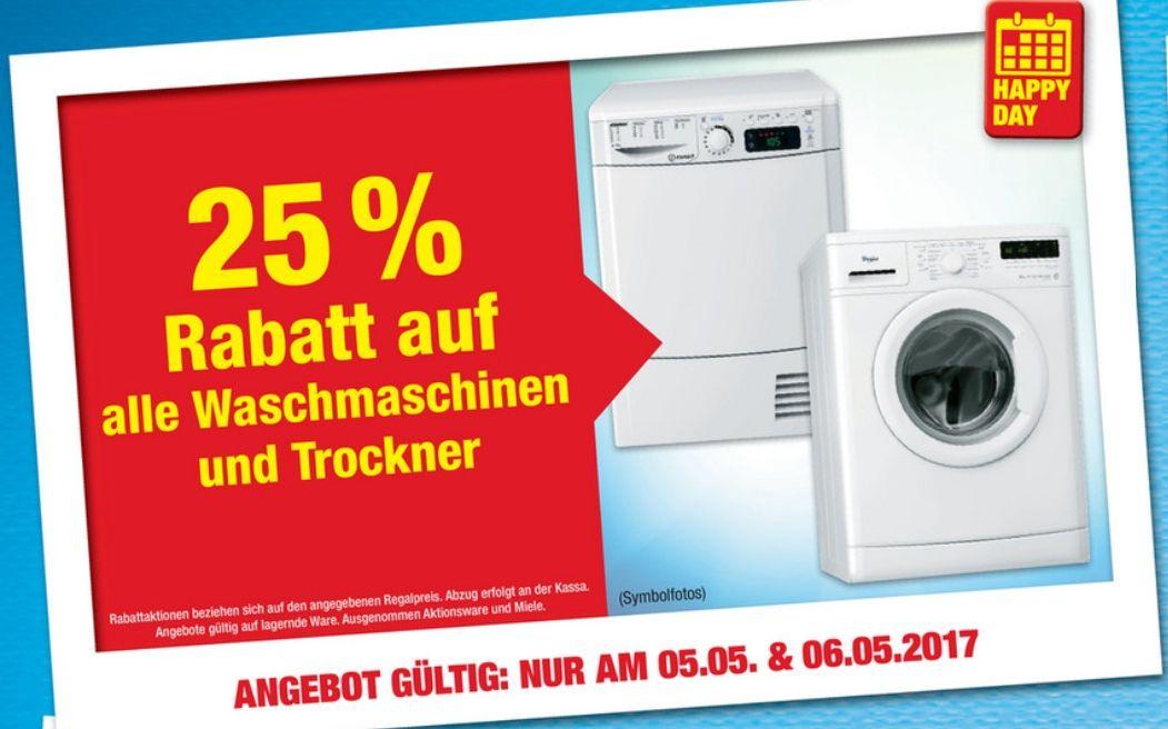 [Metro] 25% Rabatt auf alle Waschmaschinen und Trockner nur am 05.05&06.05 ausgenommen Miele & Aktionsware