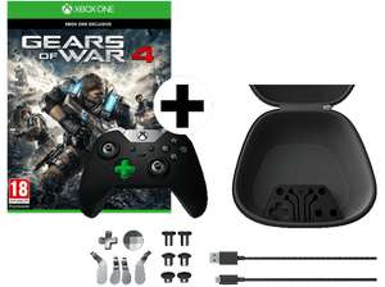 [Mediamarkt] MICROSOFT Xbox One ELITE Wireless Controller + Gears of War 4 ab 90,-€ inc Versand