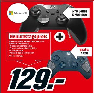 [Lokal Mediamarkt WR Neustadt] Microsoft Xbox One Elite Wireless Controller + Microsoft Xbox Wireless Controller Patrol Tech für 129,-€